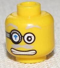 LEGO NEW MINIFIGURE HEAD WITH DIAMOND EYE PATCH GREY MUSTACHE DUAL SIDED