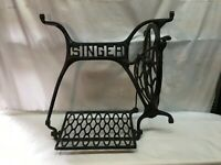 Vintage  Sewing Machine Cast Iron Base with Pedal Treadle , No Sides Art