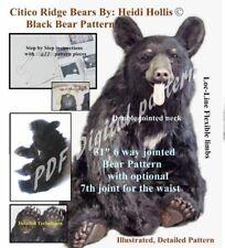 PDF Teddy Bear sewing craft pattern digital dl jointed realistic toy needle felt