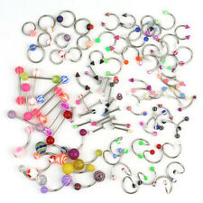 100pcs Wholesale Bulk lots Eyebrow Jewelry Belly Body Piercing Tongue Bar Ring