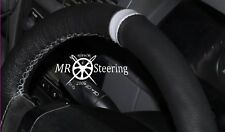 FOR 03+ MERCEDES VITO 2 W639 REAL LEATHER STEERING WHEEL COVER +LIGHT GREY STRAP