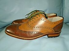 Clarks Penton Limit Tan/ Brown  Brogue Shoes- New- Size 7 UK/ EU 41