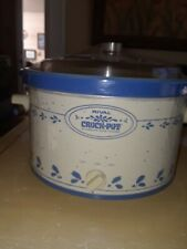 Rival Crock-Pot Removable Stoneware Vtg Slow Cooker/Server