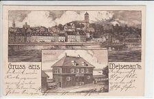 6281- Gruss aus Weisenau mit Bahnhof 1915