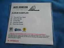 Jack Johnson To The Sea 5 Track Album Sampler  Promo CD UK
