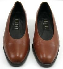 Amalfi Italy - Shoes - Size 5 B - Brown Pumps - Italian Leather - Womens