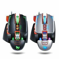 V9 Gaming Mouse Wired USB Breathing light Computer Mice RGB Gamer PC 8 Button
