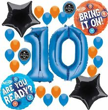 Nerf Party Supplies Birthday Balloon Decorations Bundle For (...