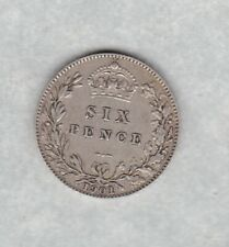 1901 VICTORIA OLD HEAD SILVER SIXPENCE IN VERY FINE CONDITION.