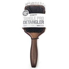 CONAIR Tangle Pro Detangler Wood Paddle Brown Hair Brush Natural Beauty NEW