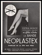 Publicité NEOPLASTEX Bas NYLONS lingerie vintage vintage  ad 1936 -5i