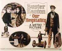 OLD MOVIE PHOTO Our Hospitality Us Lobby Card Top Left Buster Keaton
