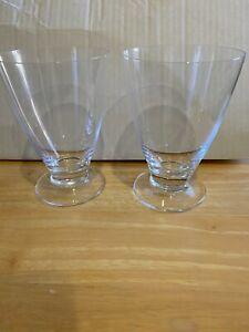 nambe glasses/tall tumblers-robert levien design-pair