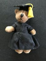 """Teddy Bear Tiny Jointed Teddy 3.5"""" tall tiny Wears Cap And Gown"""