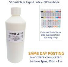 500ml Clear Liquid Latex Fake Skin/Scars,Fancy Dress Costume, Moulds, 60% rubber