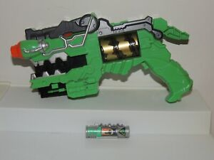 Power Rangers Dino Charge Green Morpher Gun w/ Charger Works! Great Condition!