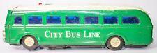 Großer Jahrgang Blech Batterie Op GBC Masudaya 1950'S Japanisch Stadt Bus Linien