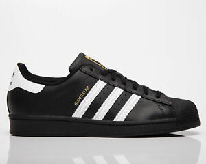 adidas Originals Superstar Men's Black White Low Casual Lifestyle Sneakers Shoes