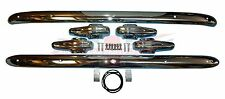 Brand New Front AND Rear Bumper Bars Pair of Bumpers MG TD with 4 Bumper Guards