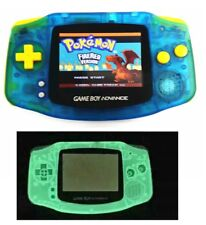 Night Light Blue Game Boy Advance Console AGS-101 Backlight LCD - Yellow Buttons