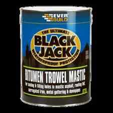 Bitumen Trowel Mastic- Black Jack- Sealing Filling Roofing Weatherproof 1 Litre