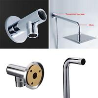 "16"" 40cm Bathroom Rain Shower Head Chrome Pipe Wall Mounted Extension Arm Angled"