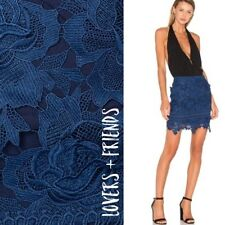 a0100c5bb8322e Lovers And Friends Women Skirt Mini Incense Floral-Lace Navy S