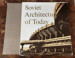 Soviet Architecture of Today - Vintage 1975 Illustrated Cloth Book w/ Slipcase