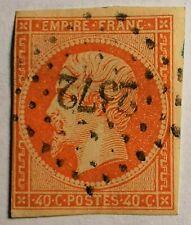 FRANCE EMPIRE NON DENT N° 16 Orange (TB-1113-2)OBLIT. LOSANGE PC 2372 Miribel 01