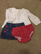 BabyGap Heart Valentine's Outfit Set 3-6 Htf