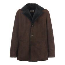 KIRED by Kiton F/W 2017 SISLA Coat Shearling Leather Suede 3XL 48Us 58Eu Brown