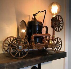 Handmade Steampunk Automobile Railway Lamp By Ovdiem