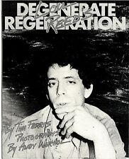 RS#210P17 LOU REED'S DEGENERATE REGENERATION ARTICLE & PICTURE
