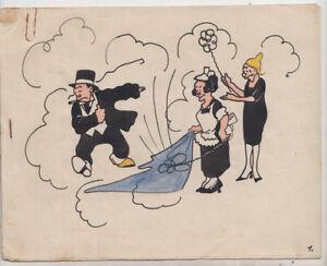 Originalzeichnung Hans Steiner Bringing Up Father 20er Jahre Werbung Staubsauger