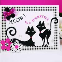 Two Cats Metal Cutting Dies Scrapbooking Die Cuts Card Making Craft Die Stencil