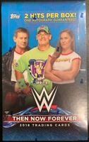 2018 Topps WWE Then Now Forever Wrestling Sealed Hobby Box with 2 Hits