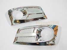 CHROME COVER FOG SPOTLIGHT LAMP TRIM PAIR FOR TOYOTA FORTUNER SUV 2012 2013 2014