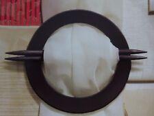 Dekorationsspange für Gardinen mit zwei Nadeln,schwarz,Durchmesser ca 16 cm, neu