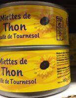 Lot revendeur déstockage Palettes De 13 Boites De Miette De ThOn A L Huile