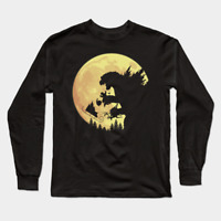 Shin Gojira Eat Santa Claus As ET Scene Funny Black Long Sleeve King Of Monster