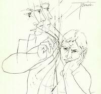 METHAMORPHOSES OVIDE Gravure au Burin Originale 1968 SIGNÉ Pierre Yves TREMOIS