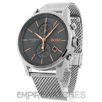 *NEW* MENS HUGO BOSS JET CHRONOGRAPH ROSE GOLD WATCH - 1513440 - RRP £299