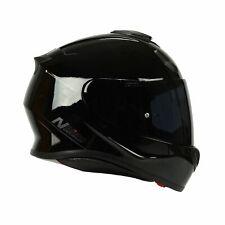 NITRO N3100 Casco De Motocicleta De Fibra De Vidrio apagón Brillo Negro + Gratis Visera Oscuro