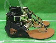 NEW LADIES Summer Black/Gold Womens Shoes Sexy Sandals Size 6