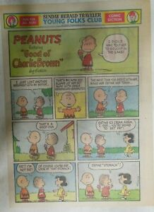 (50) Peanuts Sunday Pages by Charles Schulz from 1969 Size: ~11 x 15 inches