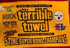 PITTSBURGH STEELERS Myron Cope's TERRIBLE TOWEL 5X Super Bowl Champs NWT