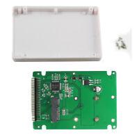"mSATA to 2.5"" inch IDE mSATA to PATA Converter Adapter Card 9.5mm Case Enclosure"