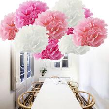 9 Tissue Paper Pompoms Pom Poms Flower Balls Fluffy Wedding Party Decoration