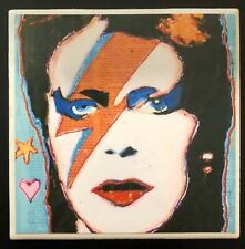 David Bowie Ziggy Stardust Art Print Ceramic Coaster Tile Signed Nwt Fast S/H