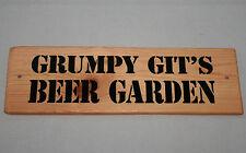 Sign Grumpy Old Git Beer Garden Hanging Outdoor Plaque Party Deck Patio Shed Den